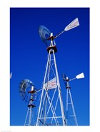 Low angle windmill at American Wind Power Center, Lubbock, Texas, USA