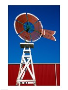 Red Windmill in Texas