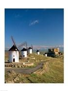 Windmills, La Mancha, Consuegra, Castilla-La Mancha, Spain By Field