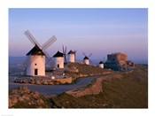 Windmills, La Mancha, Consuegra, Castilla-La Mancha, Spain