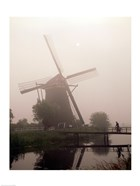 Windmill and Cyclist, Zaanse Schans, Netherlands