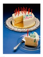 Close-up of candles on a birthday cake