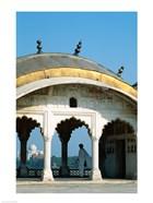 Taj Mahal seen through arches at Agra Fort, Agra, Uttar Pradesh, India