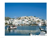 City Skyline and Harbor, Naxos, Cyclades Islands, Greece