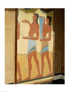 Minoan Art, Procession Fresco, Palace of Knossos, Knossos, Crete, Greece
