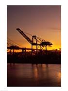 Sunrise, Port of Long Beach, CA, USA
