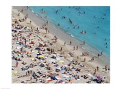 Aerial view of people at the beach, Waikiki Beach, Honolulu, Oahu, Hawaii, USA