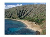 High angle view of a bay, Hanauma Bay, Oahu, Hawaii, USA