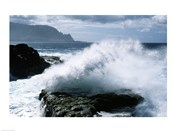 Kauai Hawaii USA Waves Crashing