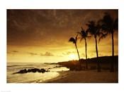 Kauai Hawaii USA at Sunset