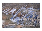 High angle view of a landscape, Painted Desert, Petrified Forest National Park, Arizona, USA