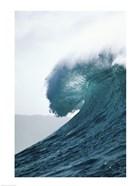 Close-up of an ocean wave, Waimea Bay, Oahu, Hawaii, USA