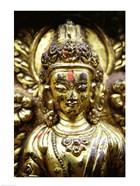 Close-up of a statue, Kathmandu, Nepal