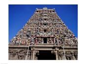 Carving on Sri Meenakshi Hindu Temple, Chennai, Tamil Nadu, India