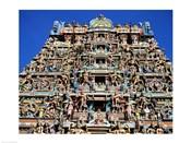 Carving on Sri Meenakshi Hindu Temple, Chennai, India