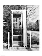 Telephone booth by the road