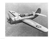 High angle view of a fighter plane in flight, Curtiss SB2C Helldiver, December 1941
