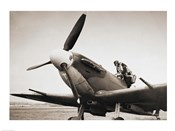 Submarine Spitfire WW-II British Fighter