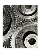 Close-up of interlocked gears