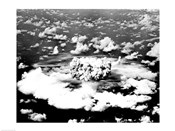 Aerial view of an atomic bomb explosion, Bikini Atoll, Marshall Islands