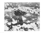 High angle view of an atomic bomb explosion, Bikini Atoll, Marshall Islands, July 25, 1946