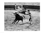 Matador fighting with a bull
