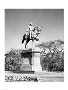 Low angle view of a statue of George Washington, Boston Public Garden, Boston, Massachusetts, USA