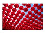 Taiwan,Kaohsiung,Cijin Island,Chinese Lanterns at Tianhou Temple