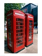 Two telephone booths, London, England