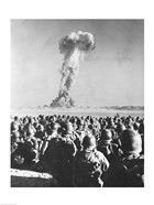 Atomic Bomb Testing in a Desert, Camp Desert Rock, Las Vegas, Nevada, USA