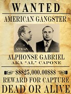Al Capone Wanted Poster
