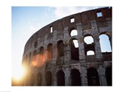 Low angle view of the old ruins of an amphitheater, Colosseum, Rome, Italy