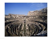 High angle view of a coliseum, Colosseum, Rome, Italy