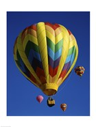 Yellow Rainbow Hot Air Balloon