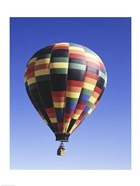 Low angle view of a hot air balloon rising, Albuquerque, New Mexico, USA