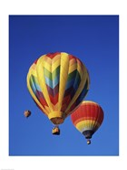 Rainbow Colored Hot Air Balloons
