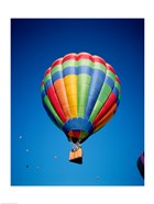 Low angle view of hot air balloons in the sky, Albuquerque, New Mexico, USA