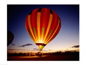 Low angle view of a hot air balloon taking off, Albuquerque, New Mexico, USA