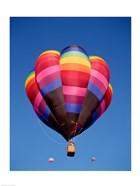 Rainbow Hot Air Balloon Flying Away
