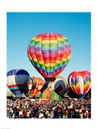 Hot air balloons taking off, Albuquerque International Balloon Fiesta, Albuquerque, New Mexico, USA