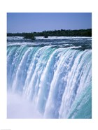 Water flowing over Niagara Falls, Ontario, Canada