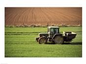 Tractor in a field, Newcastle, Ireland