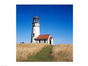 Low angle view of a lighthouse, Cape Blanco Lighthouse, Cape Blanco State Park, Oregon, USA
