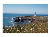 Lighthouse on the coast, Yaquina Head Lighthouse, Oregon, USA