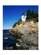 Bass Harbor Head Lighthouse Mount Desert Island Maine USA