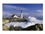Portland Head Lighthouse Cape Elizabeth Maine  USA