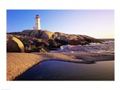 Lighthouse on the coast, Peggy's Cove Lighthouse, Peggy's Cove, Nova Scotia, Canada