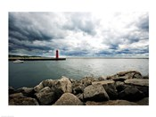 Muskegon South Breakwater lighthouse, Lake Michigan, Muskegon, Michigan, USA