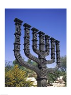 Low angle view of a menorah, Knesset Menorah, Jerusalem, Israel
