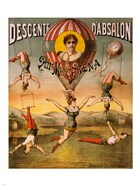 Descente d'Absalon par Miss Stena, Circus Poster, 1890